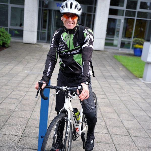 Foto von Arnd Bader mit dem Rad