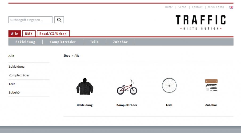 Screenshot TRAFFIC distribution